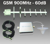 Wholesale 1 Set GSM MHz Mobile Phone Signal Booster dB w Outdoor Yagi Indoor Omni Antenna AT C