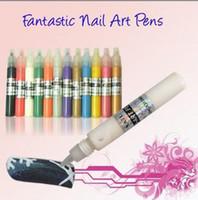 Cheap UV Gel Acrylic Design 3D Paint professional Nail Art Pen Polish 12 Different Colors Christmas 120pcs