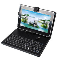 Wholesale PU Leather Case With Keyboard for quot Tablet PC Flytouch Lenovo Thinkpad Tablet With Holder Stand