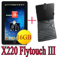 Wholesale 16GB quot flytouch android tablet pc GPS keyboard leather case GHZ MB wifi G netbook