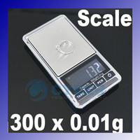 Wholesale 300g x g Mini Electronic Digital Jewelry Balance Pocket Gram Scale Black Silver