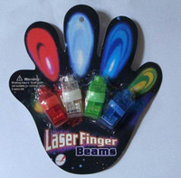 Wholesale 1set freeshiping Laser Finger Beam Rings LED Finger light Beam Rings for Party Colourful Light