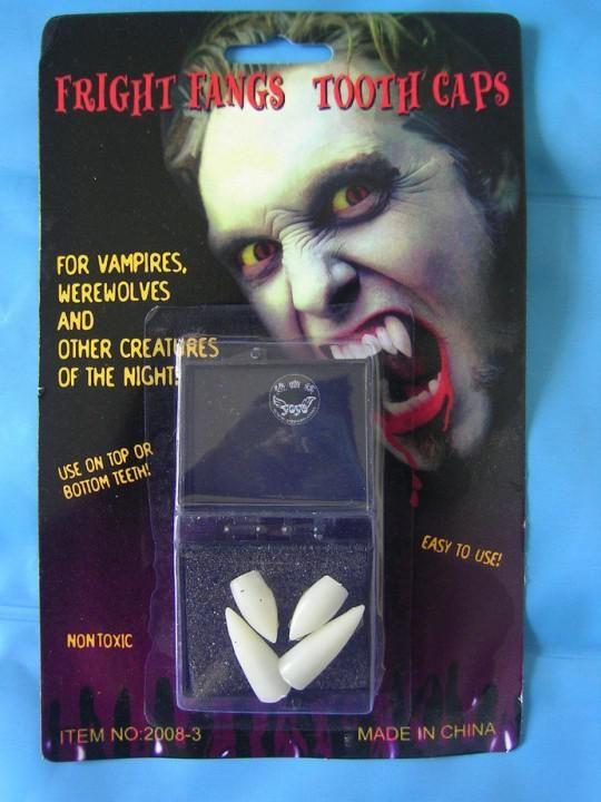 4 x Vampire Teeth Multi Fangs Costume Halloween Party Werewolf Fright Fangs Tooth Caps 50pcs lot