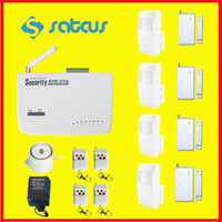 Wireless auto stores - Wireless GSM Intelligent Burglar Home Alarm System Auto Dial for Home School Office Store Security sg