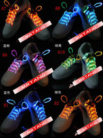 Wholesale LED Shoe Lace luminous Latchet Shoe Strings Boot Lace Flash Light Strap String CHRISTMAS A