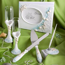 Wholesale Wedding party need appliance pair champagne cup sign note cake knife and shovel suit free post