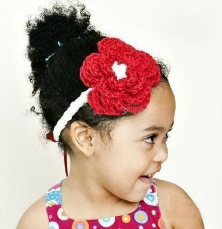 Crochet Flower Headband | AllFreeKidsCrafts.com
