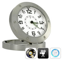 Wholesale Motion Activated Clock Video Camera Security Cam SPY NANNY Camera Alarm CLOCK Motion Sensor