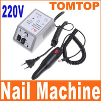 Wholesale 220V W Professional Manicure Electric Drill Nail art Machine Manicure pedicure set H4663