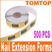 Wholesale set Golden Nail Art Tip Extension Forms for Acrylic UV Gel H4695