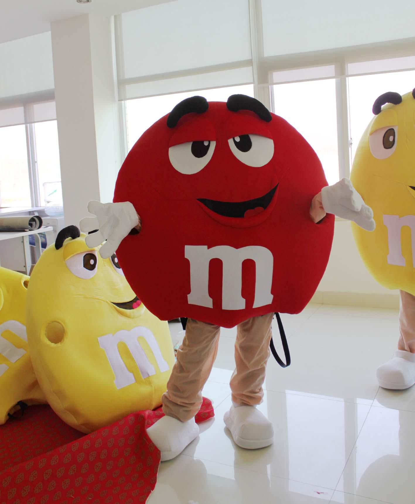 M chocolate candy red mascot costume factory direct