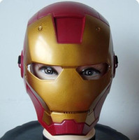 Wholesale New Halloween Cosplay Iron Man Masks Halloween Mask Children s Christmas Gift