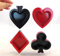 Wholesale poker ashtray Novel Spade Heart Club Diamond Poker Ashtray Set