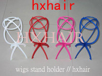 Wholesale Freeshipping Wigs Stand Wigs Holder for HAIR WIGS Red Pink White Blue Black Mix Colors