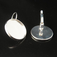 Wholesale Earring Blanks Earring Base Sterling silver color mm lead free nickel free ID5907