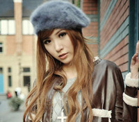 Wholesale Berets berets rabbit hair painter cap princess hats