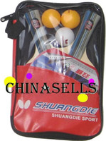Wholesale Genuine SHUANFDIE table tennis racket table tennis racquet amp ball amp cover T T racket handshake