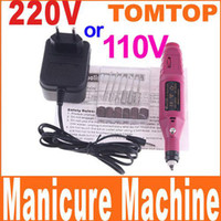 Wholesale 110V V for choice Electric Nail Art Drill File Manicure Machine Tool Bits H4405