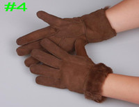 Wholesale Winter couple gloves sheepskin gloves Warm gloves Ski gloves Fashion cute gloves Mix