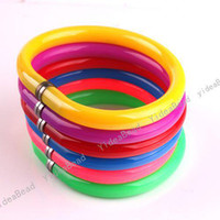 Wholesale 48pcs Mixed Designs Colorful Plastic Bracelet Bangle Ball Wristlet Useful Pen For Gifts