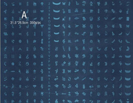 Х большой Онлайн-5 X новых крупных ногтей штамп штамповка плиты изображения