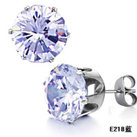 Wholesale STAINLESS STEEL CRYSTAL DIAMOND STUDS EARRINGS JEWELRY CHRISTMAS GIFT PAIRS