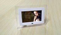 achat en gros de joueur de résolution-7 pouces LCD TFT cadre photo numérique avec lecteur MP3 MP4 haute résolution Displa Nouveau