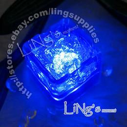 Hot Item--Lowest price-free shipping-Dark Blue LED Ice Cube Light Wedding Party Christmas Decoration