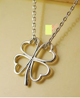 Silver Plate/Fill clover necklace - Concise Lucky Clover Necklace for Pretty women Fashion Four leaf Clover Necklace Best sale