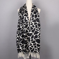 Wholesale Cashmere black and white classic long Scarf Scarves Elegant colors
