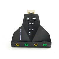 Wholesale 6PCS USB D Audio Sound Card Adapter Double Channel Double Microphone amp Headset