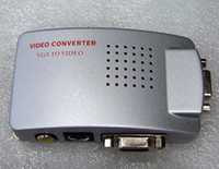 Adapter av office - PC Laptop VGA to TV AV Signal Converter Switch Box VGA TO VIDEO Connectors Office Equipment Electronics Parts Accessories Promotion Gift