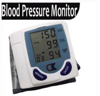 Cheap Free shipping Digital Wrist Blood Pressure Monitor & Heart Beat Meter