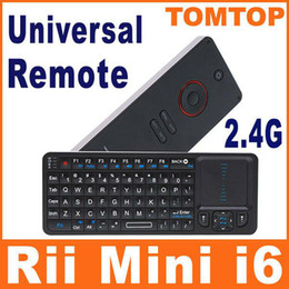 Wholesale 2 in G Rii Mini i6 m Wireless Keyboard Universal Remote Control with Touch pad christmas C1207