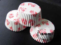 Wholesale New arrival Mix color and design Round MUFFIN Paper Cake Cup Cake case with dot stripe