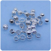 Wholesale DIY New Plated Silver mm Crimps Beads Copper Stopper Beads End Caps Beads Jewelry Finding