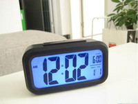 Wholesale Snooze Large Hot Sale Screen Digital Clock Wise Light the clock of induction Large LCD Backlight
