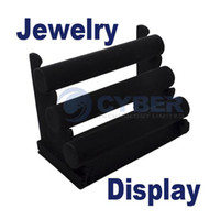 Wholesale Black Tier Velvet Watch Bracelet Jewelry Display Holder Stand Rack Retail