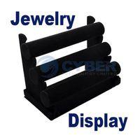 Wholesale Black Tier Velvet Watch Bracelet Jewelry Display Holder Stand Rack Retail