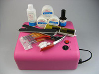 UV Gel Nail Art Set Yes  Professional Nail Art Full Set UV Gel Kit 36W UV Gel Curing Lamp With 4 Lamp Tubes NA278+NA431