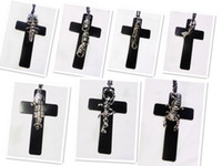 Wholesale Jewelry Boutique Black Large Cross Various Monster Men Pendants Necklaces Chain length CM