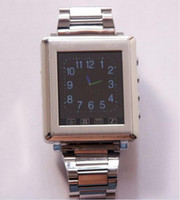 Wholesale christmas quot Touch Screen AK810A Watch Cell Phone Tri band Wrist LCD stainless steel