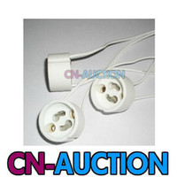 Wholesale GU10 Ceramic Light Lamp Bulb Socket Holder Wire Connector CN LS24