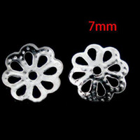 Wholesale bag Silver Tone Flower Spacer Beads Bead Caps mm Fashion accessory Jewelry