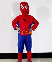 Wholesale carnival halloween masquerade dance party kid s costume children spider ma costume stes