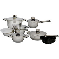 Wholesale Millerhaus Piece T ply Surgical Stainless Steel Cookware Set
