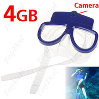 Wholesale 4 GB MP CMOS sensor M Waterproof Diving Mask Digital Video PC Camera