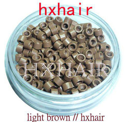 1000pcs 4.5mm Micro Aluminium Rings Links Beads   Black D-Brown Brown L-Brown D-Blonde Blonde Auburn