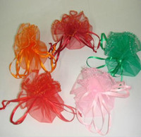 Wholesale 300piece cm can choose Round Circle Organza bags Gift Pouch Wedding Gift Bags