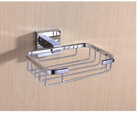 Wholesale Bathroom Contemporary Soap dish holder Soap Dishes Brass Soap Rack Chrome Soap basket NY13408